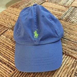 Ralph Lauren blue and green Polo hat